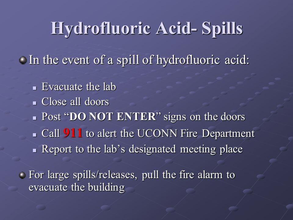 Hydrofluoric Acid- Spills