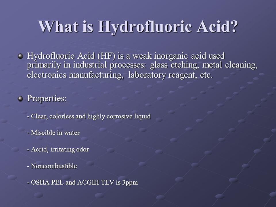 What is Hydrofluoric Acid