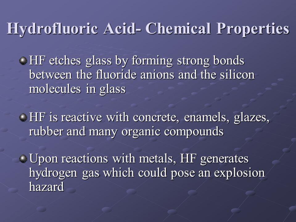 Hydrofluoric Acid- Chemical Properties