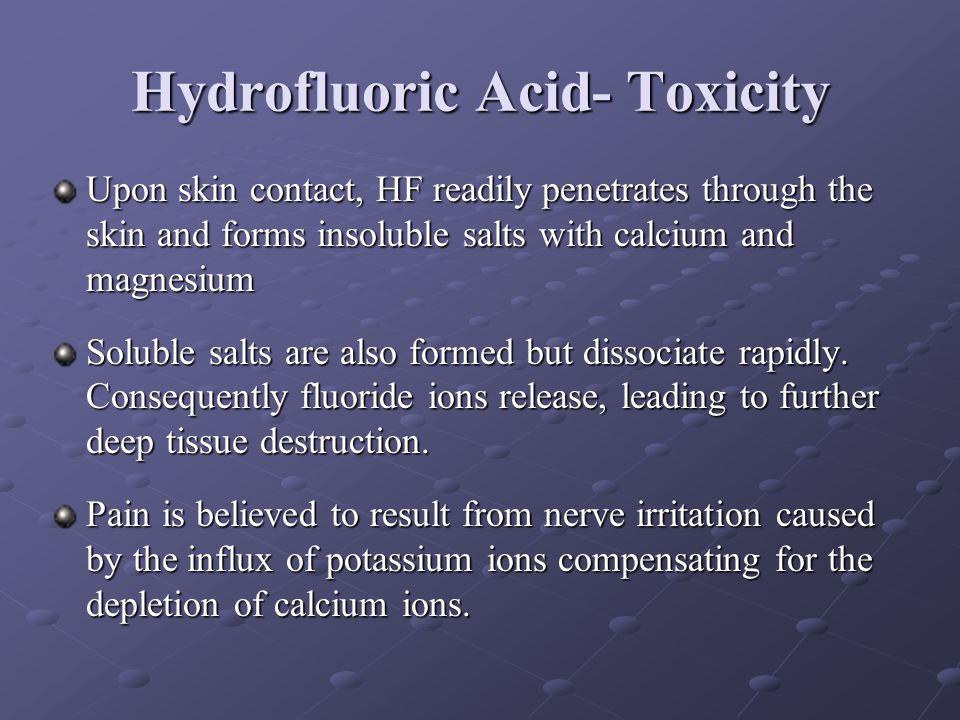 Hydrofluoric Acid- Toxicity