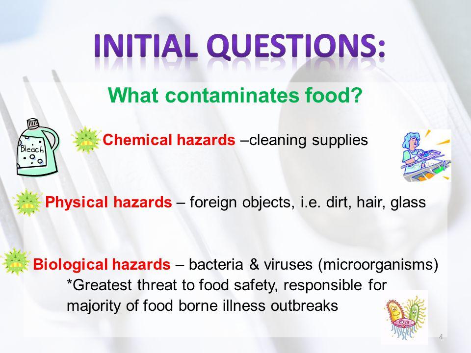 What contaminates food