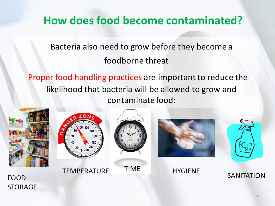How does food become contaminated