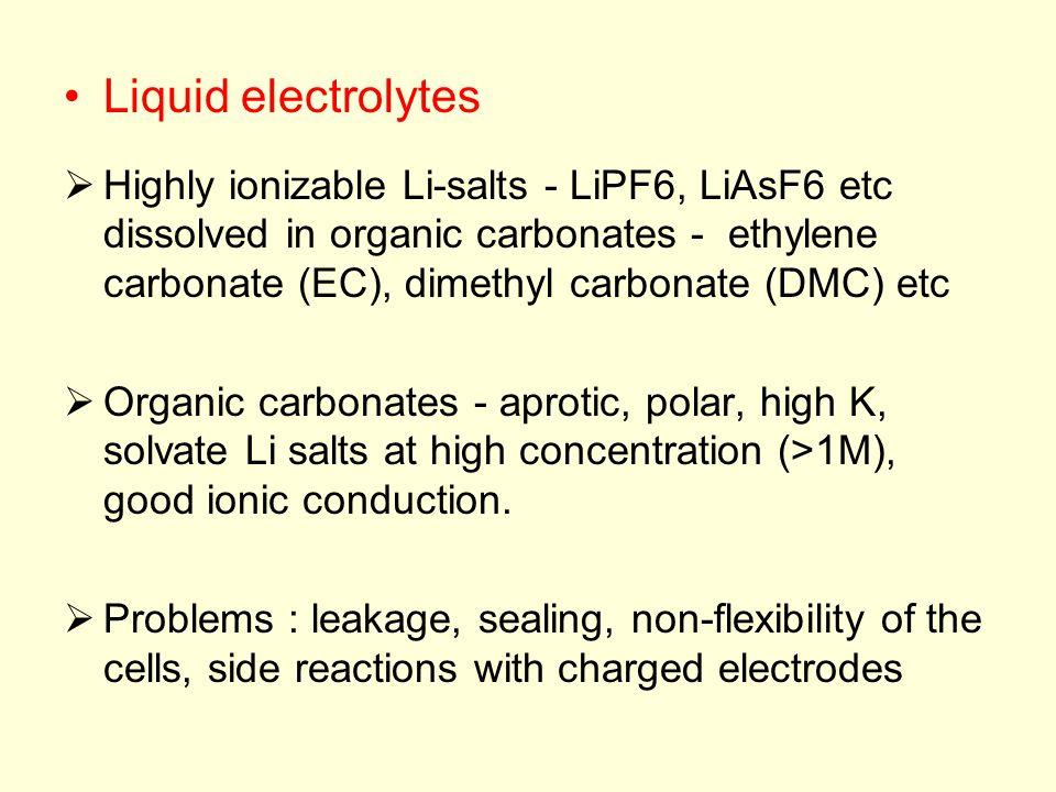 Liquid electrolytes