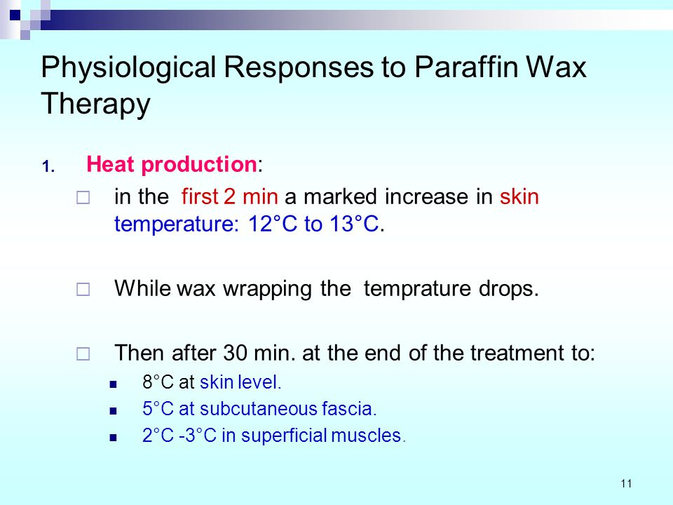 Physiological Responses to Paraffin Wax Therapy