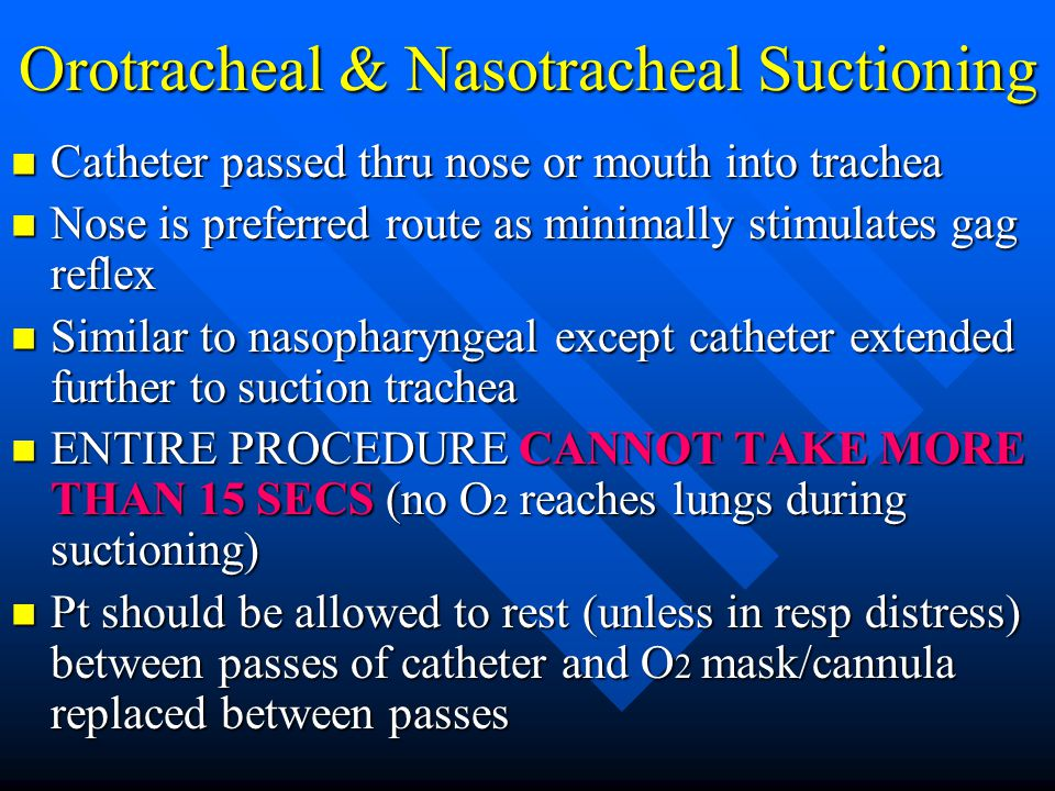 Orotracheal & Nasotracheal Suctioning