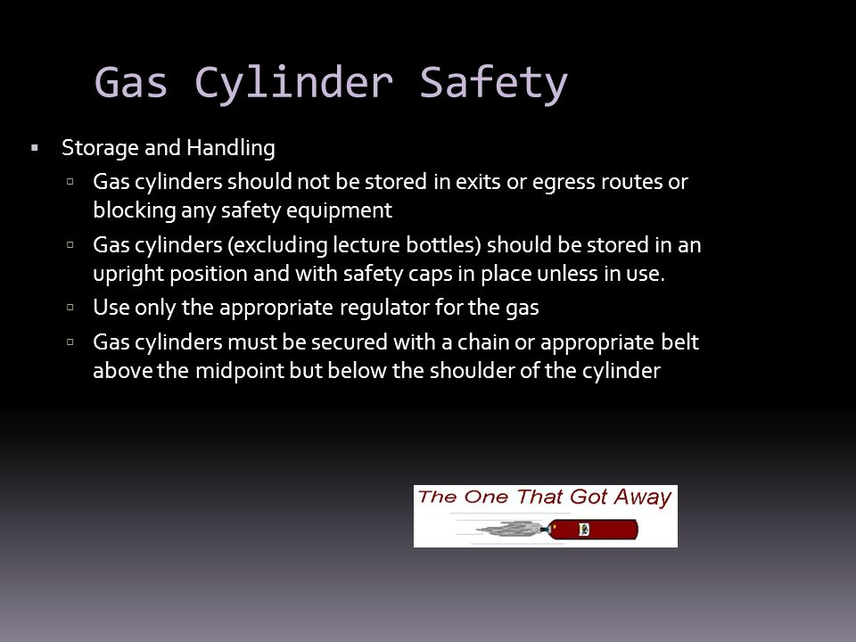 Gas Cylinder Safety Storage and Handling