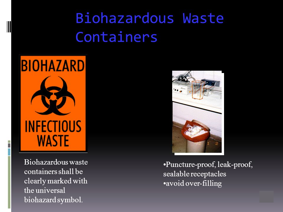Biohazardous Waste Containers