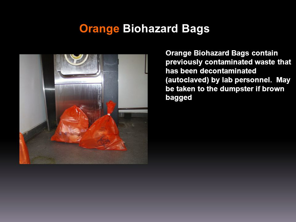 Orange Biohazard Bags