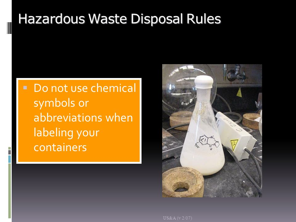 Hazardous Waste Disposal Rules