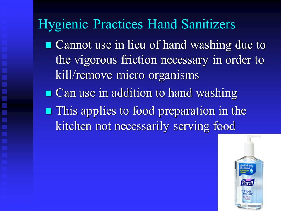 Hygienic Practices Hand Sanitizers
