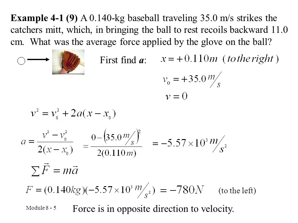 Force is in opposite direction to velocity.
