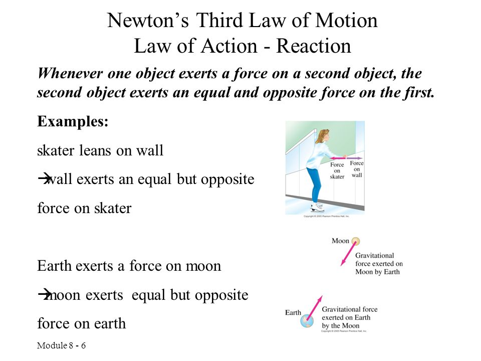 Newton's Third Law of Motion Law of Action - Reaction