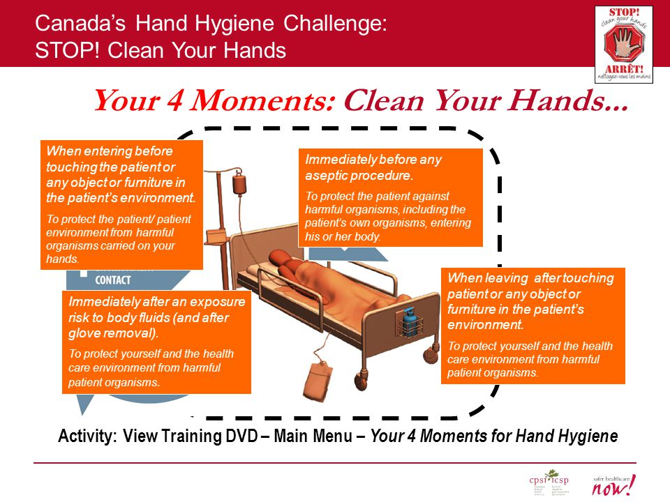 Your 4 Moments: Clean Your Hands...