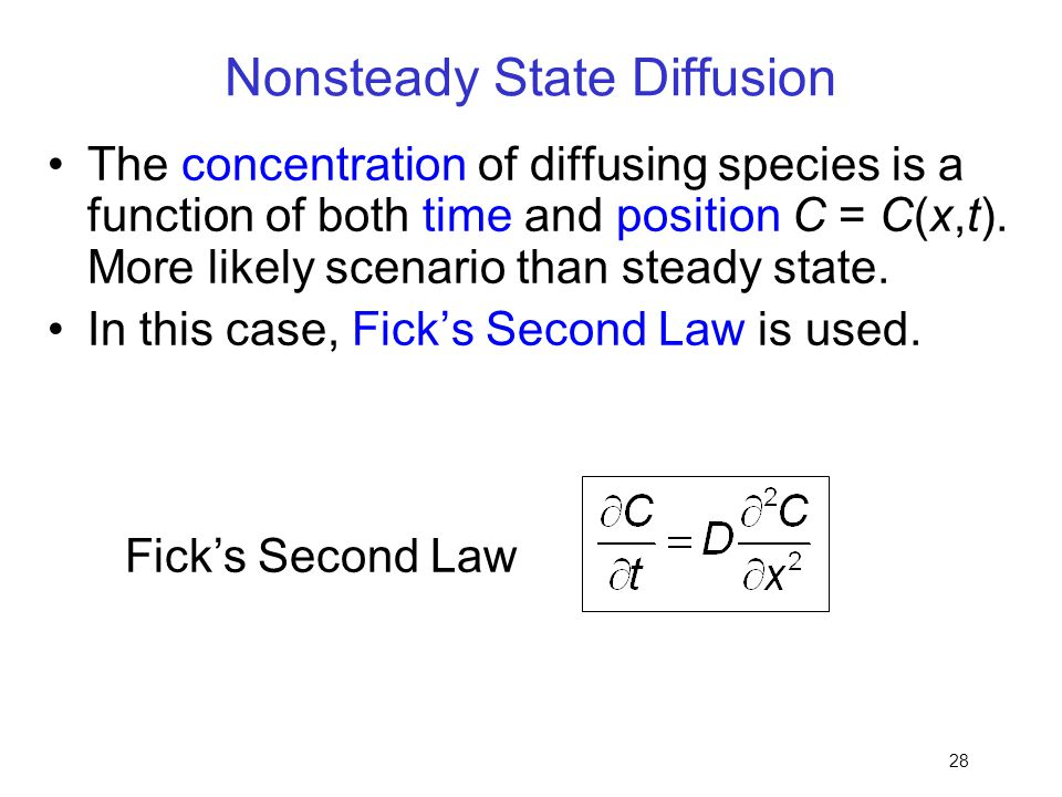 Nonsteady State Diffusion