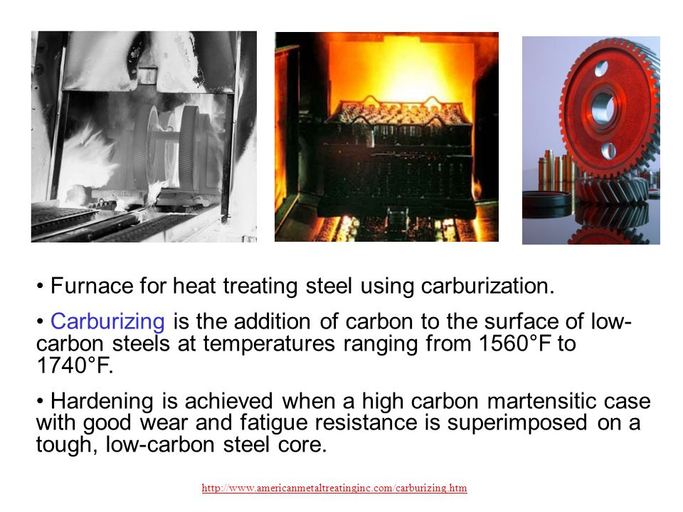 Furnace for heat treating steel using carburization.
