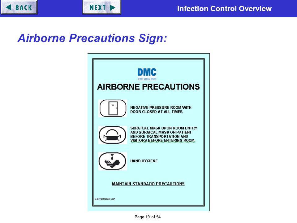 Airborne Precautions Sign: