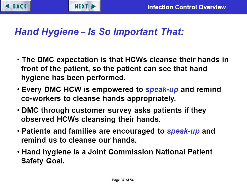 Hand Hygiene – Is So Important That: