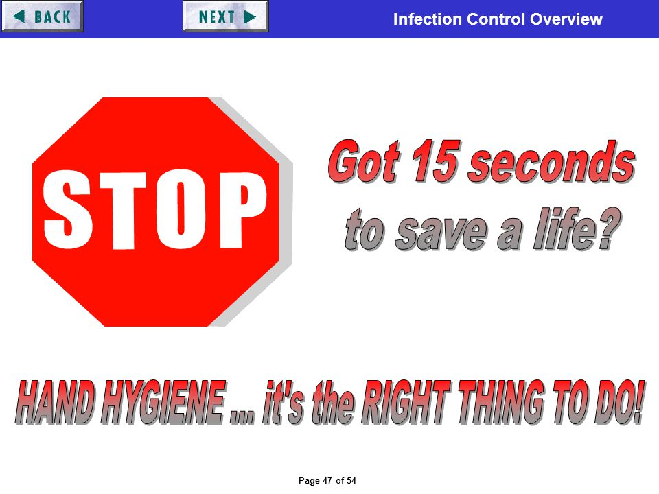 HAND HYGIENE ... it s the RIGHT THING TO DO!