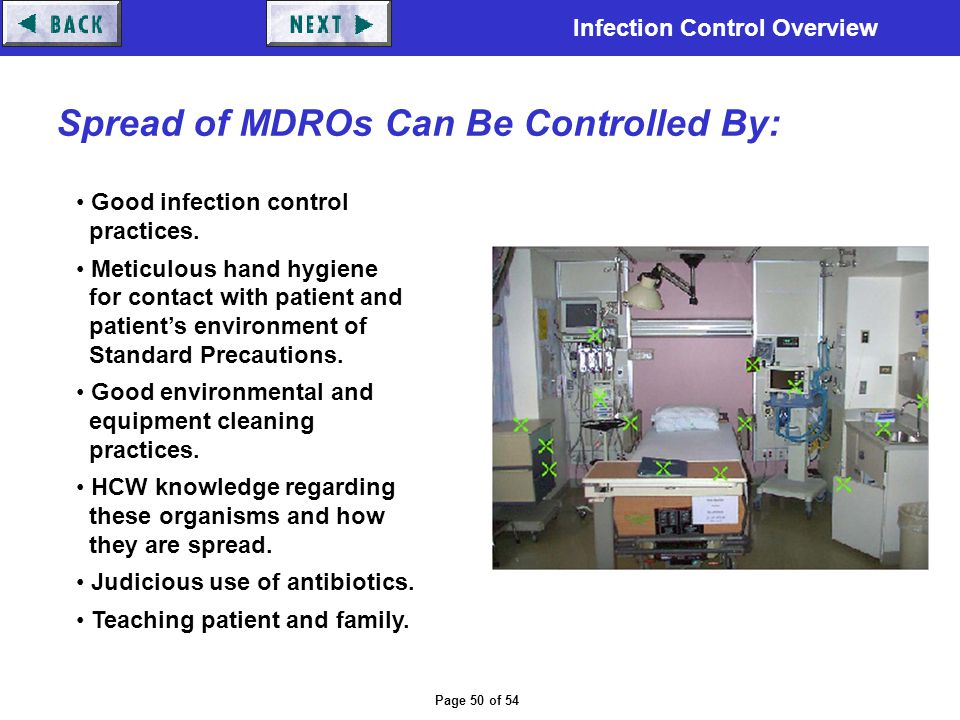 Spread of MDROs Can Be Controlled By: