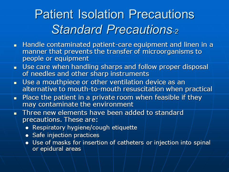 Patient Isolation Precautions Standard Precautions-2