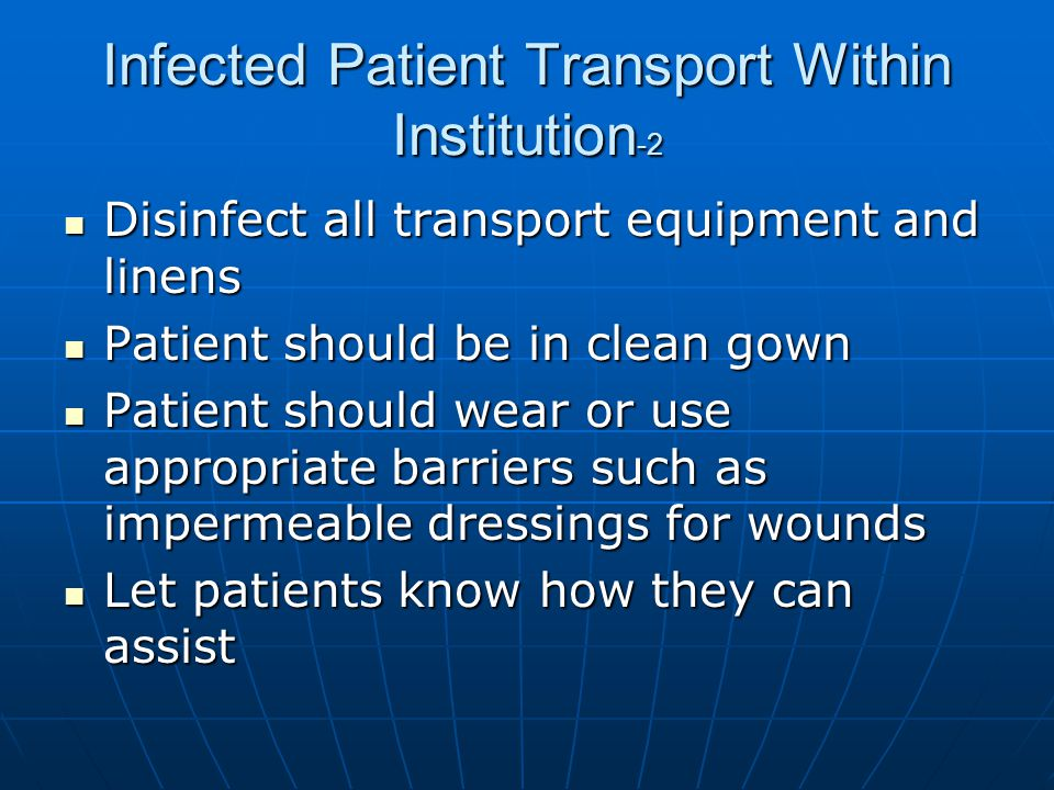 Infected Patient Transport Within Institution-2