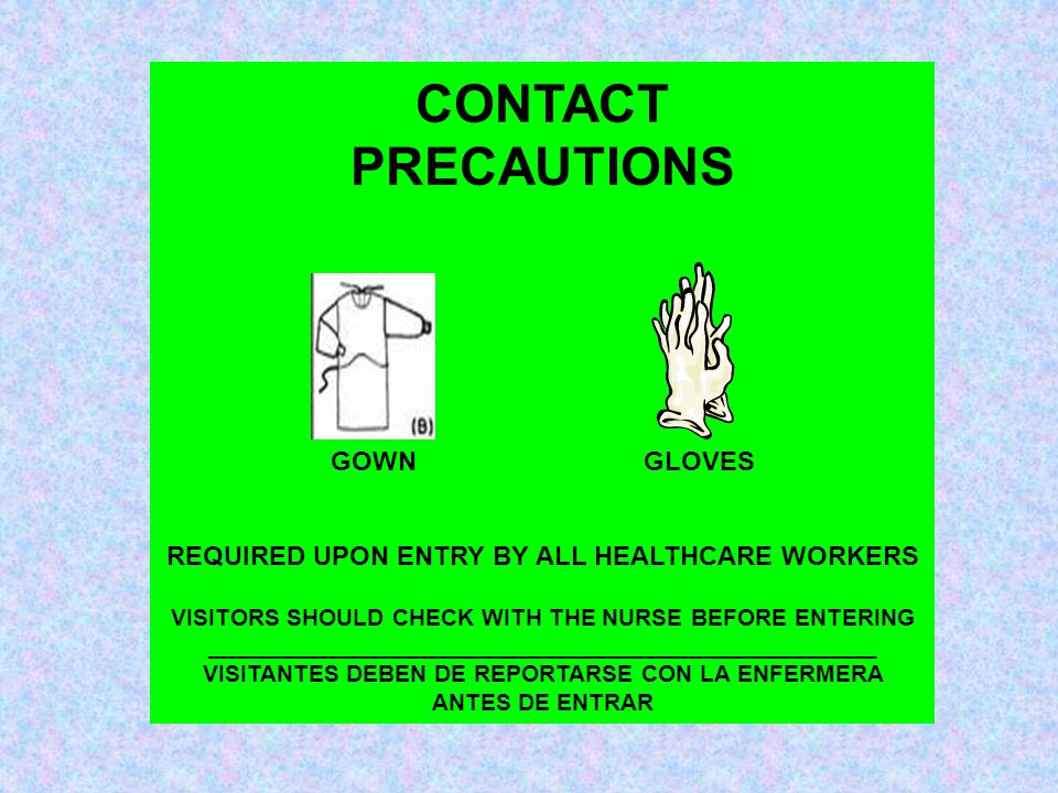 CONTACT PRECAUTIONS GOWN GLOVES
