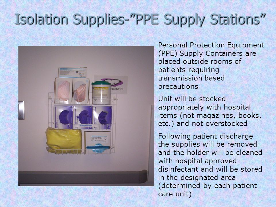 Isolation Supplies- PPE Supply Stations