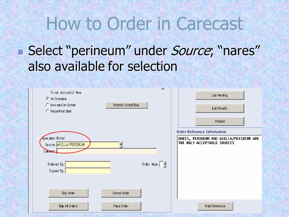 How to Order in Carecast