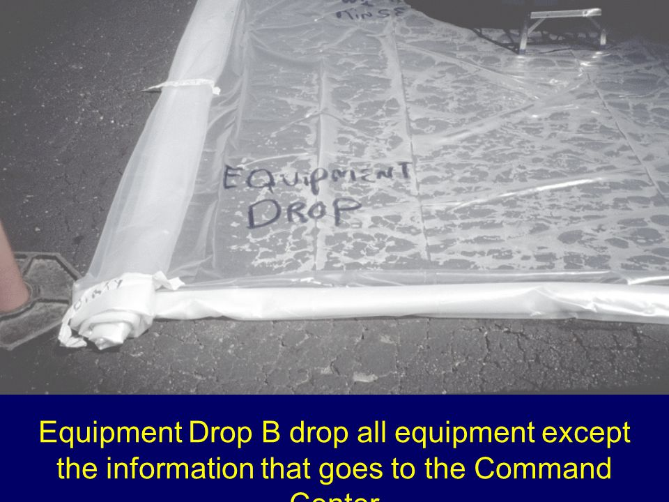 Equipment Drop B drop all equipment except the information that goes to the Command Center