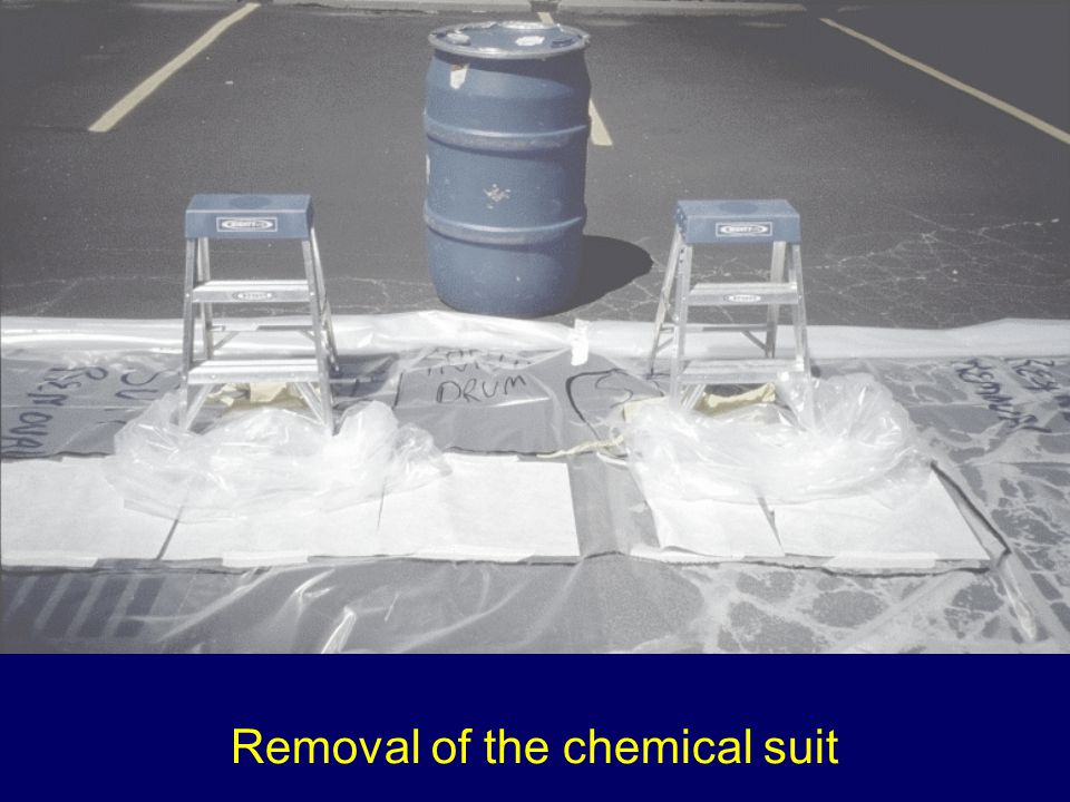 Removal of the chemical suit