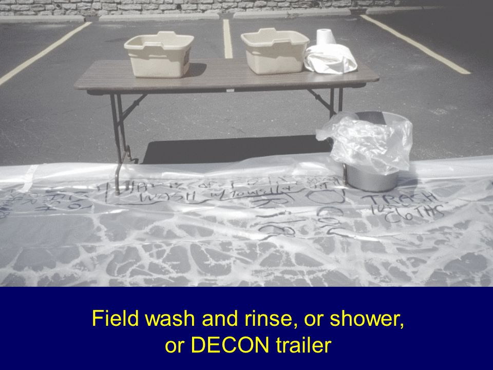 Field wash and rinse, or shower,