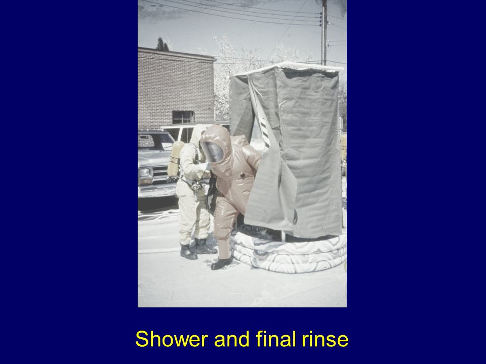 Shower and final rinse