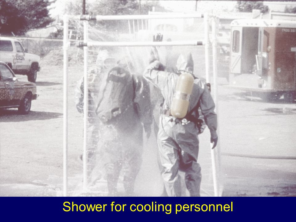 Shower for cooling personnel