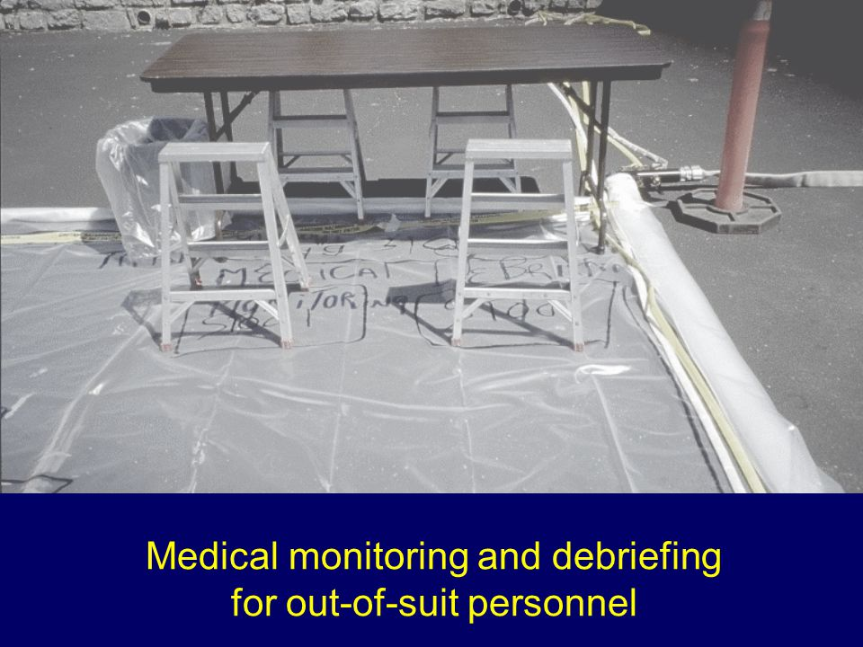 Medical monitoring and debriefing for out-of-suit personnel