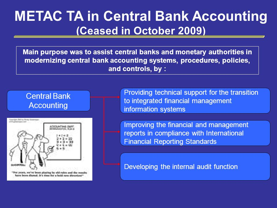 METAC TA in Central Bank Accounting (Ceased in October 2009)