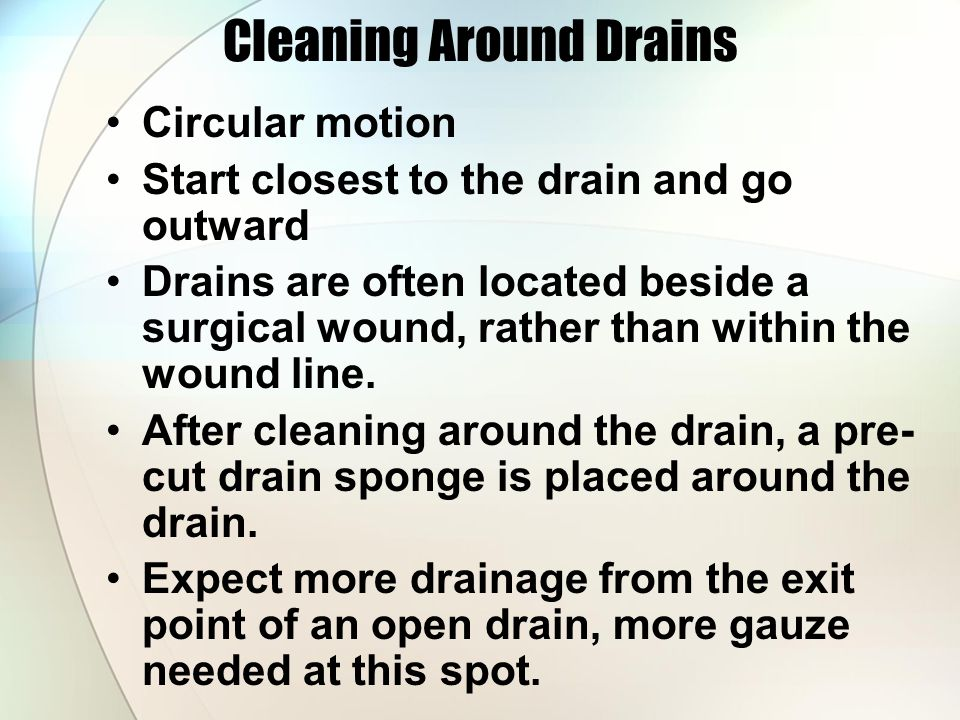 Cleaning Around Drains