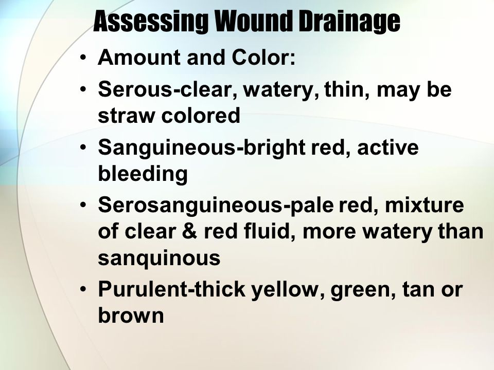 Assessing Wound Drainage