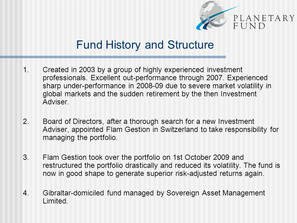 Fund History and Structure