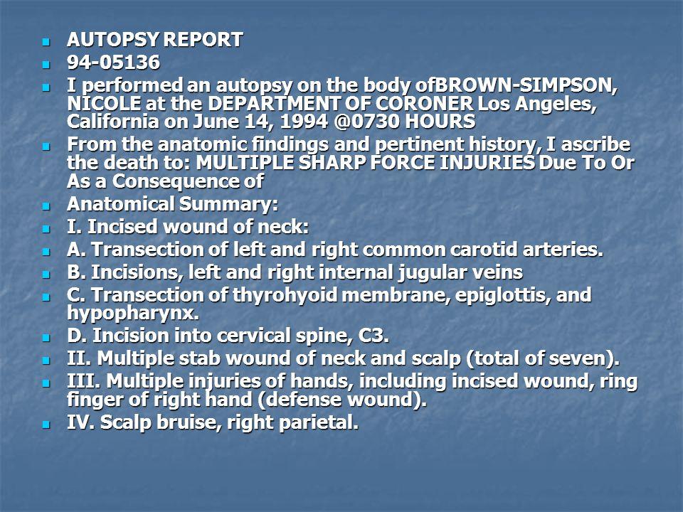 AUTOPSY REPORT 94-05136.