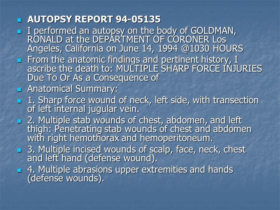 AUTOPSY REPORT 94-05135