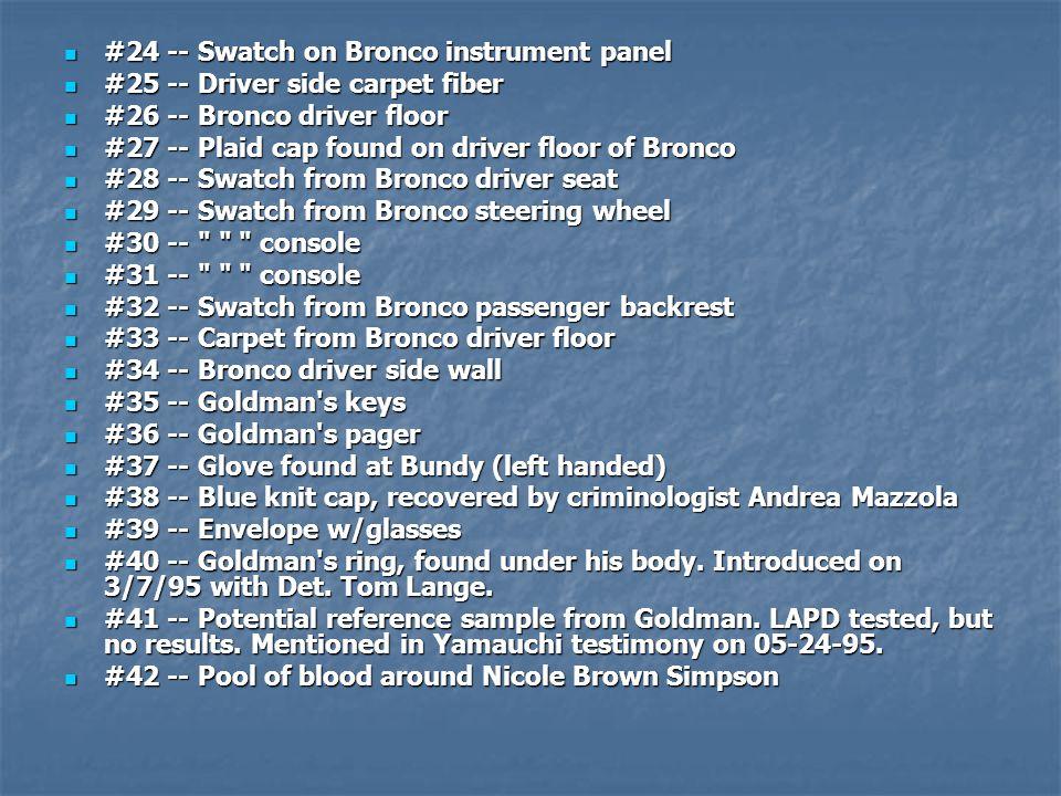 #24 -- Swatch on Bronco instrument panel