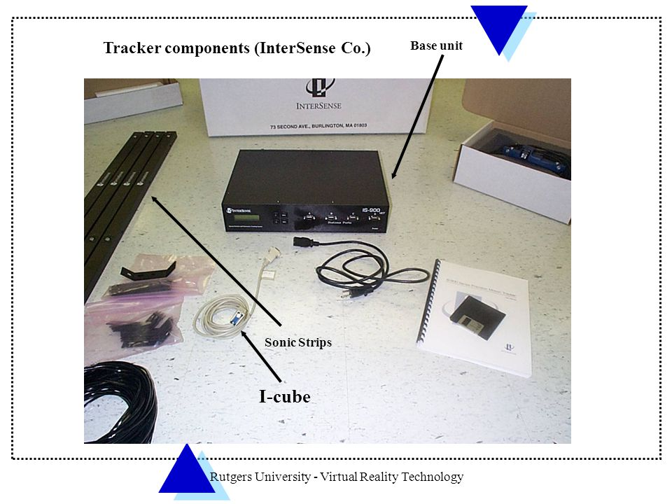 Tracker components (InterSense Co.)