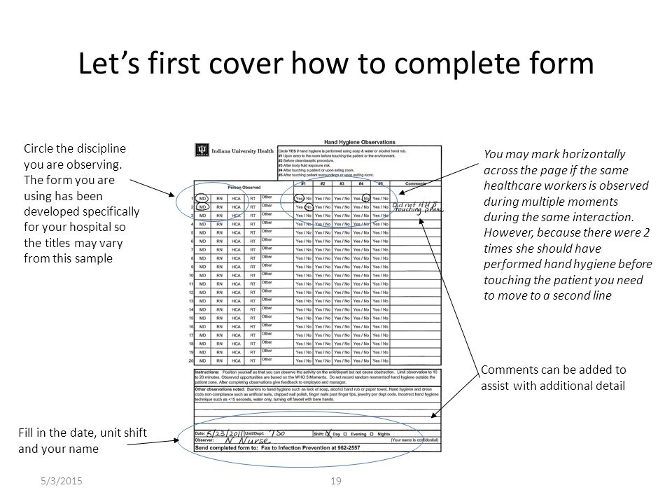Let's first cover how to complete form