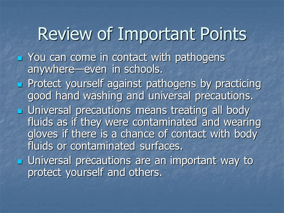 Review of Important Points