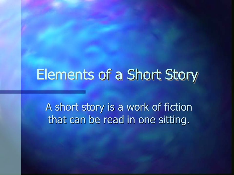 the five elements of a short Five elements of the short story - download as pdf file (pdf), text file (txt) or read online.
