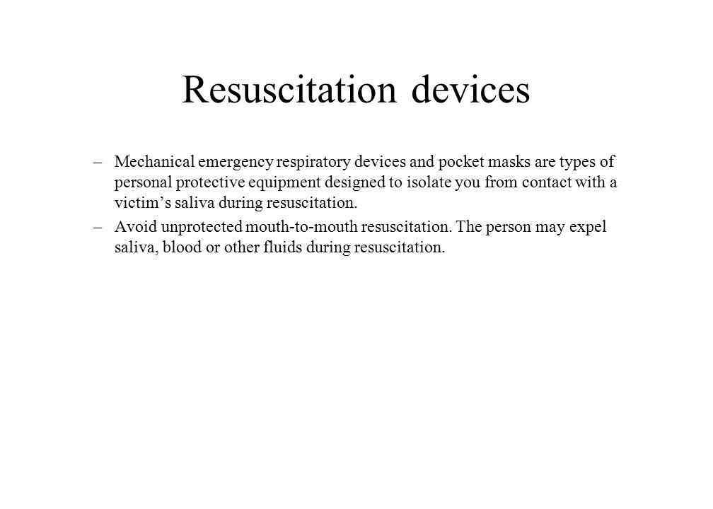 Resuscitation devices