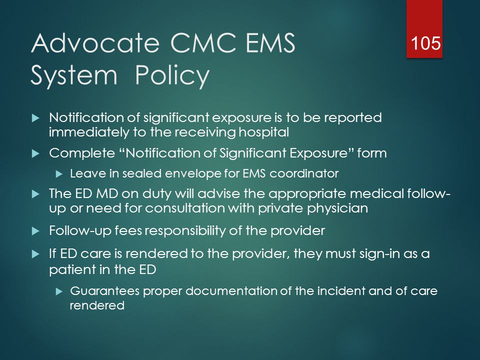 Advocate CMC EMS System Policy