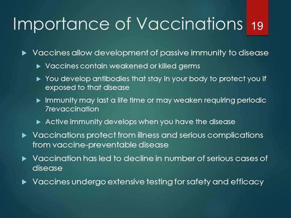 Importance of Vaccinations
