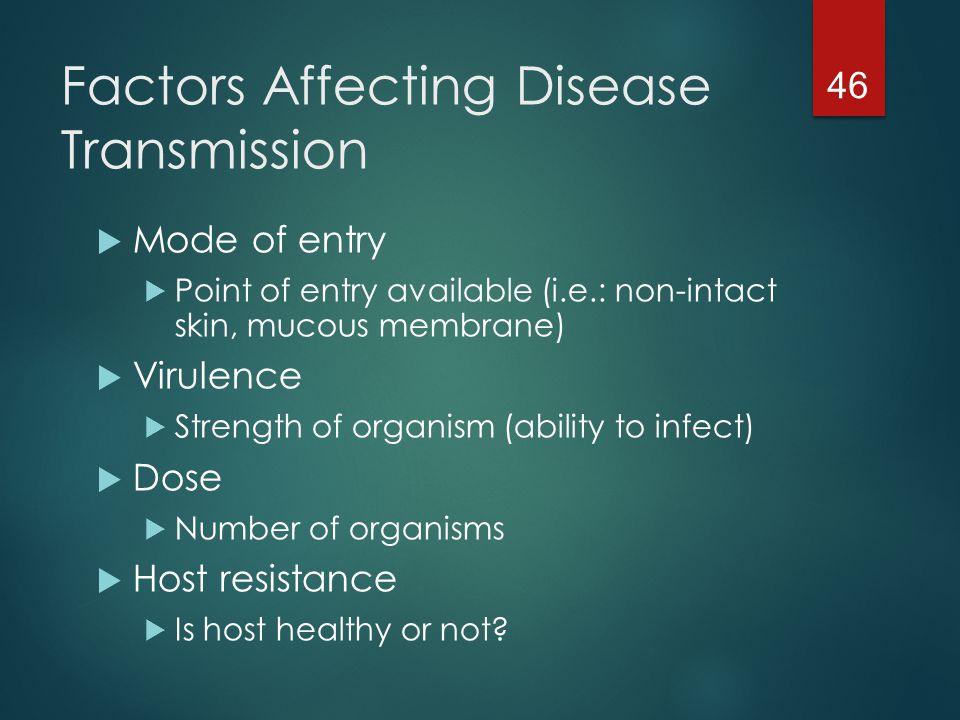 Factors Affecting Disease Transmission