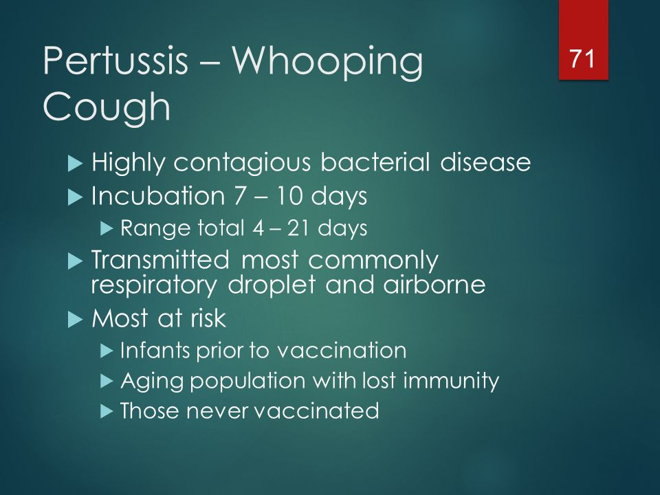 Pertussis – Whooping Cough